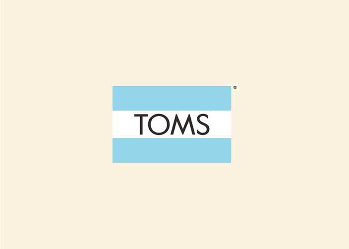 TOMS flag logo.